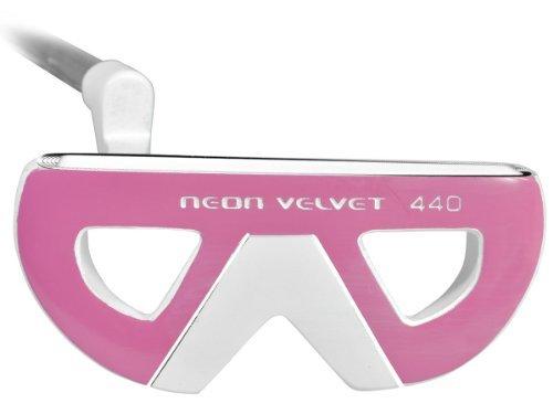 Intact Women's Golf Neon Velvet 440 Putter, Left Hand, White, 35-Inch