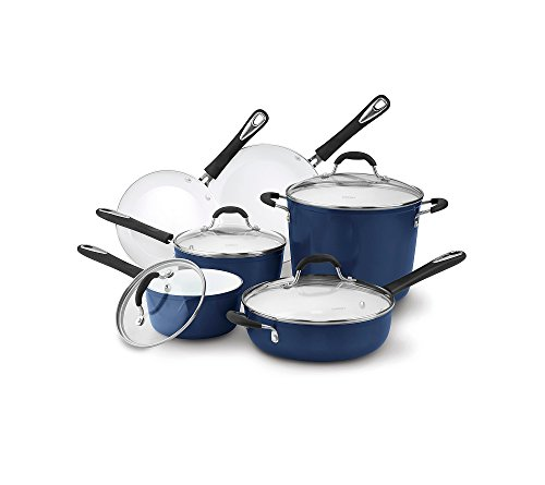 Cuisinart Elements 10-pc. Blue Ceramic Cookware Set