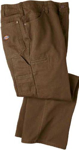 Dickies Women's Carpenter Straright Leg Work Wear Pants FP120 (Rinsed Timber Brown, 14P) -