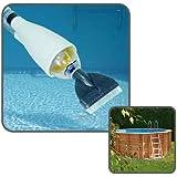 Linxor France ® Balai aspirateur piscine avec manche télescopique - Norme IP65