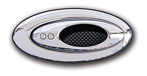 Billet Door Handle Bezels (Clayton EL-503 Door Handles Open Ellipsewith Elliptical Bezel, 1 Pack)