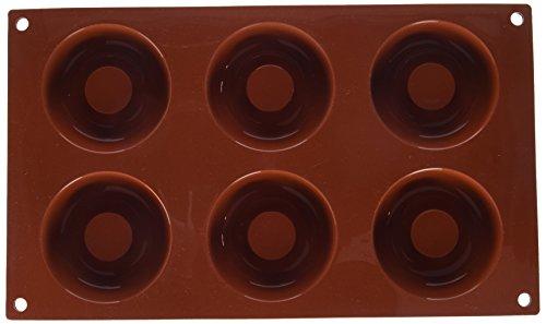 Silikomart Mould Donuts, 72mm, Terracotta