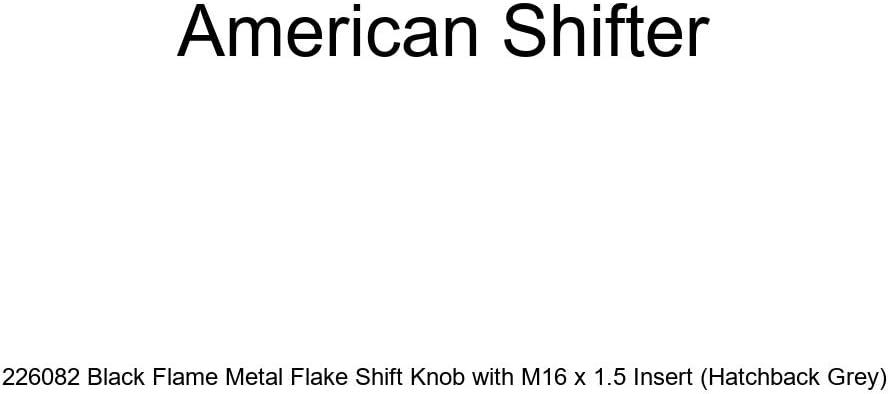 American Shifter 226082 Black Flame Metal Flake Shift Knob with M16 x 1.5 Insert Hatchback Grey