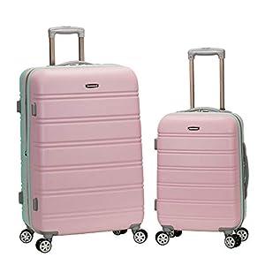 Rockland Melbourne Hardside Expandable Spinner Wheel Luggage, Mint, 2-Piece Set (20/28)