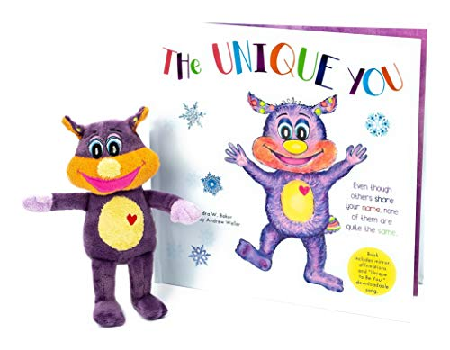 Kid's Book With Friendly Plush Toy, Stuffed Animal - The Unique You - Motivational Story For You And Your Children, Baby - Includes 7 Inch Cute Cuddly Critter Puppet