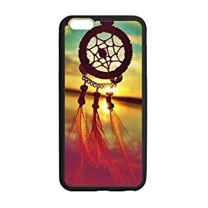 Custom Dreamcatcher Dream Catcher and Sunset Sea Ocean Pattern Phone Case Laser Technology for iPhone 6 Plus Designed by HnW Accessories by runtopwell