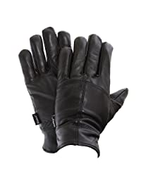 FLOSO Mens Thinsulate Lined Genuine Leather Gloves (3M 40g) (L/XL) (Black)