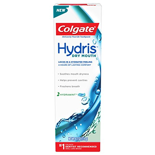 Colgate Hydris Dry Mouth Toothpaste, Hydramint Gel, 4.2 oz (Pack of 2)