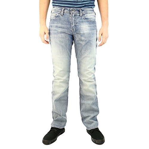 Buffalo David Bitton Men's Six Slim Straight Leg Jean, Dirty Indigo Wash, 30x32 - Dirty Wash Jeans