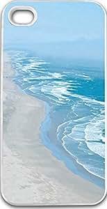 Dseason Iphone 4S Case,Fashion printing series,High quality hard plastic material Light blue coastline