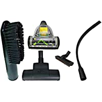 ZVac Compatible Attachment Kit Replacement Airvac. Premium Generic Airvac Central Vacuum Attachments Floor Brush, 24 Flexible Crevice Tool, Carpet Turbo Vacuum Head, Pet Attachment & More!