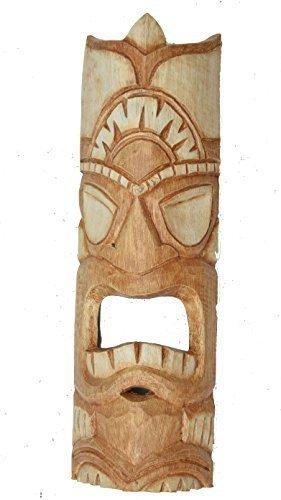 FUEGO PELO Tiki Máscara 50cm IM HAWÁI look Máscara de madera HAWÁI Maui Máscara de pared
