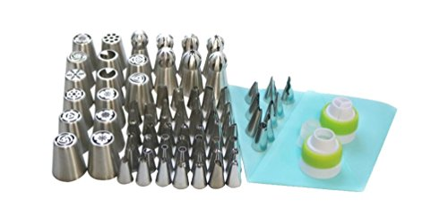 81pcs/Set Stainless Steel Pastry Nozzles Cake Decorating Tools Russian Tips Icing Piping Pastry Tips Confectionery Cupcake Tools by Darnell Nehemiah