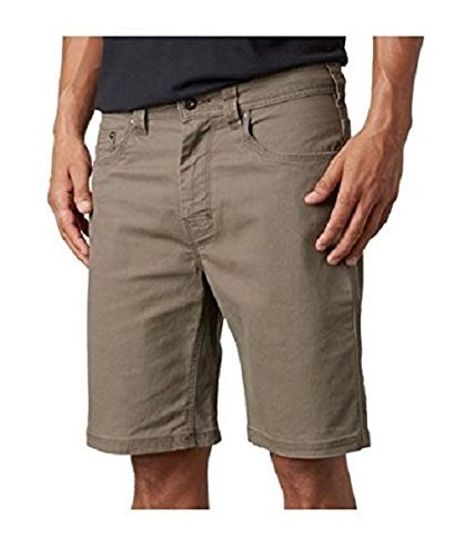 prAna Living Men's Bronson 11-Inch Inseam Shorts, Mud, 32