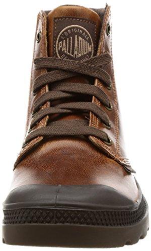 Palladium 72065-315_Noir - Botas de cuero para hombre Amarillo (Braun/SUNRISE/CHOCOLATE)
