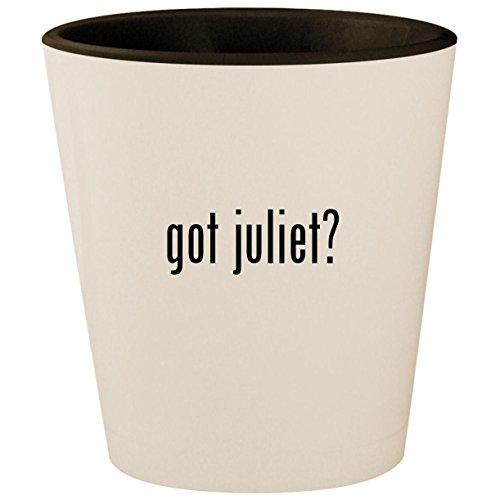 got juliet? - White Outer & Black Inner Ceramic 1.5oz Shot (Gnomeo And Juliet Costumes)