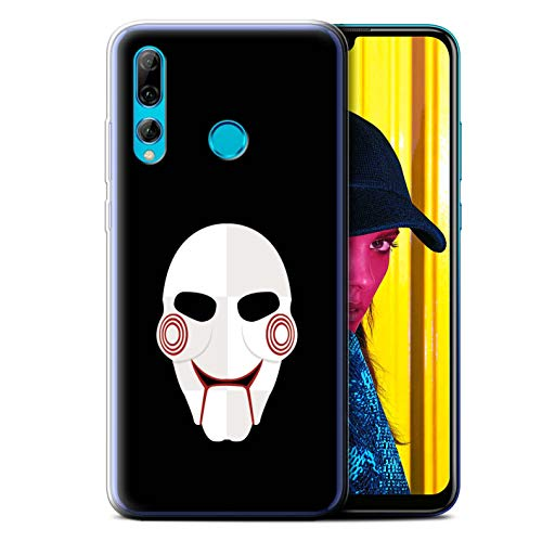 (eSwish Gel TPU Phone Case/Cover for Huawei P Smart+ 2019/Honor 20 Lite/Jigsaw Clown Inspired Art Design/Horror Movie Art)