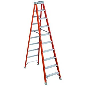 Louisville Ladder Fs1510 300 Pound Duty Rating Fiberglass