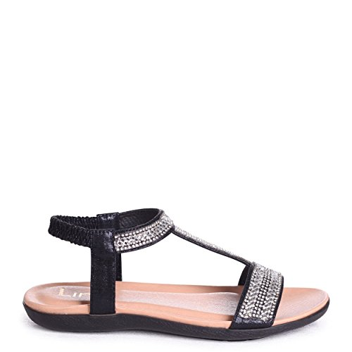 orné très Charline avec Sandale Noir T noire Bar 7XBqAwBY
