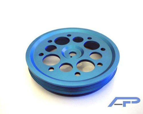 Agency Power (AP-SCXB-130BL) Lightweight Crank Pulley, Blue by Agency Power (Image #1)