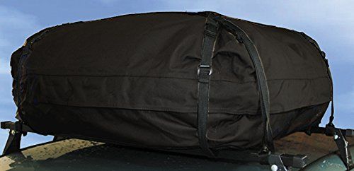 XtremeAuto® BLACK Waterproof Car Roof Storage Cargo Bag, for use with roof rails. EXTRA LARGE (WLW2-E43) XtremeAuto®