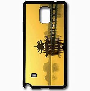Unique Design Fashion Protective Back Cover For Samsung Galaxy Note 4 Case Lotus Lake Kaoshiung Taiwan Black