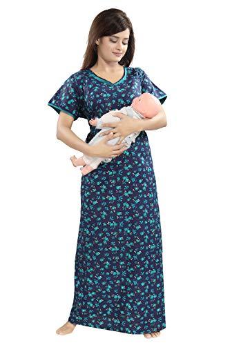 fbbeb61453 TUCUTE Womens Cotton Fabric Floral Print Feeding Maternity Pregnancy Nighty Night  Gown Nightwear Nightdress.