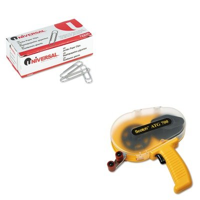 (KITMMMATG700UNV72220 - Value Kit - Scotch Adhesive Transfer Tape Applicator (MMMATG700) and Universal Smooth Paper Clips)