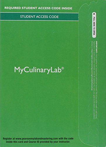 Cold Kitchen Fundamentals - MyLab Culinary with Pearson eText -- Access Card -- for Garde Manger: Cold Kitchen Fundamentals