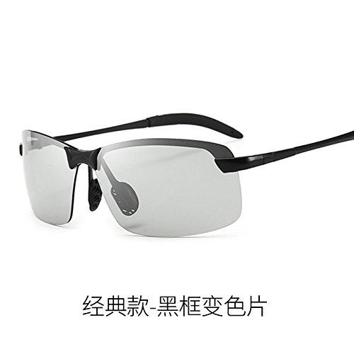 Pistola visión conductores KOMNY los noche frame Frame decoloración todo Discoloration inteligentes de conducir hombres Clásico gris para espejos gafas Gafas gafas de Día de y conducción Black nocturna sol para Classic BrwxaqBR