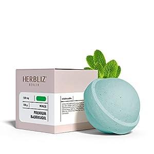 HERBLIZ Mint Bath Bomb with 150mg CBD   CBD bath b...