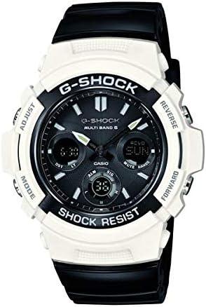 [カシオ] 腕時計 ジーショック White and Black Series 世界6局対応 電波ソーラーウォッチ AWGM100GW7AJF ブラック
