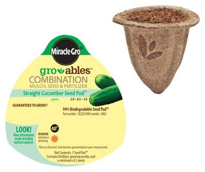 Miracle-Gro Gro-Ables Cucumber Seed Pod