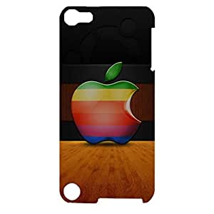Apple Logo Phone Case 3Dpretty And Colors Design Durable Phone Case for Ipod Touch 5th Generation Apple Logo