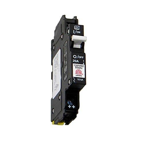 (Din Rail Mount Combiner PV Breaker - 20 Amp, 150 VDC, | MNEPV20)