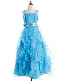 Fashion Plaza Girl's Organza Ruffle Flower Girl Wedding Pageant Dress K0044