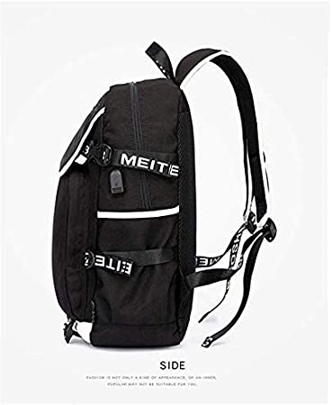 8 YOYOSHome Anime Angels of Death Cosplay Daypack Bookbag Backpack School Bag with USB Charging Port
