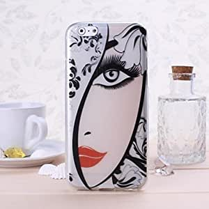 QJM Beautiful Girl Pattern TPU Soft Case for iPhone 6