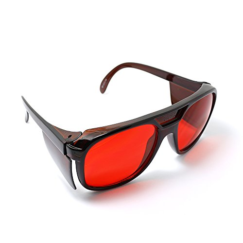 Protective Goggles & Safety Glasses for 532nm Green Diode Lasers Protection Eyewear with Case