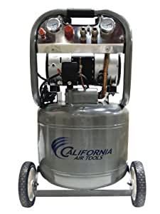 California Air Tools CAT-10020 Ultra Quiet and Oil-Free 2.0 HP 10.0-Gallon Steel Tank Air Compressor