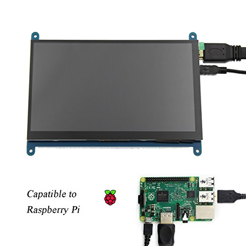 Juvtmall HDMI Display Monitor 7 inch 1024x600 HD Touch Screen TFT LCD Model with Touch Function for Raspberry Pi B+/2B Raspberry Pi 3,Banana Pi/Pro,Beagle Bone Windows 7/8/10 … by Juvtmall (Image #3)