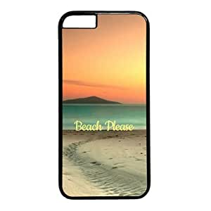 "Beach Please Theme Case for iPhone 6 Plus (5.5"") PC Material Black"