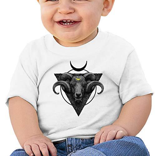 Lixue Satanic Baphomet Goats Baby Boys' Infant Crew Neck Short Sleeve Shirts