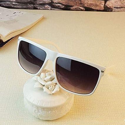 fdf6ffc7adf9 Amazon.com: Kasuki oculos de sol feminino Brand fashion sunglass Square  Frame Rivet women men sun glasses lentes de sol mujer Sunglasses - (Lenses  Color: ...
