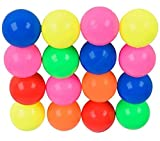 Custom & Unique {27mm} 1000 Bulk Pack, Mid-Size Super High Bouncy Balls, Made of Grade A+ Rebound Rubber w/ Vivid Neon Solid Opaque Shiny Rainbow Carnival Prize Birthday Party Cheer Style (Multicolor)