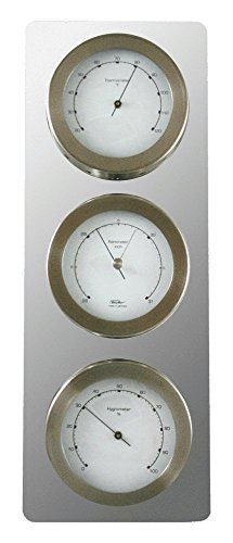 Fischer Instruments 1514-01 Stainless Steel Thermometer / Hygrometer / Barometer Contemporary Weather Station by Fischer Instruments
