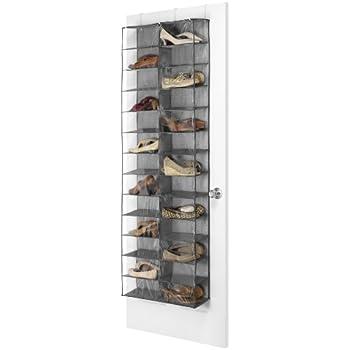 Whitmor OTD Shoe Shelves 26 Sections Crosshatch Gray