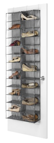 Whitmor OTD Shoe Shelves 26 Sections Crosshatch Gray