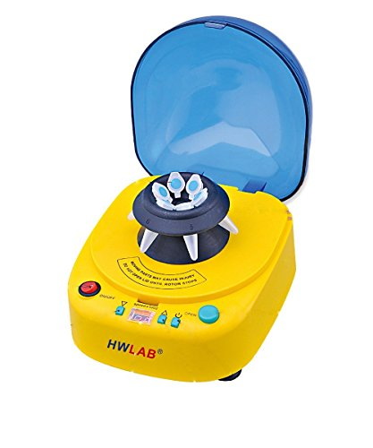 HWLAB® 1K-12K Multi-Speed Desktop Mini Centrifuge, 1000-12000 rpm Adjustable Speed, 2 Rotors - 1 Year - Rotor Centrifuge
