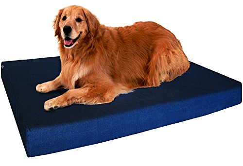 Dogbed4less Extra Large Orthopedic Memory Foam Dog Bed, Waterproof Liner, Extra Pet Bed Cover, 40X35X4 Inch (Waterproof Bed Orthopedic)